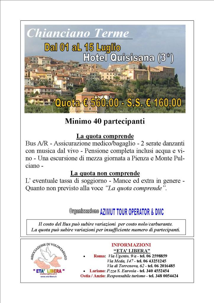 Chianciano Terme Azimut tour