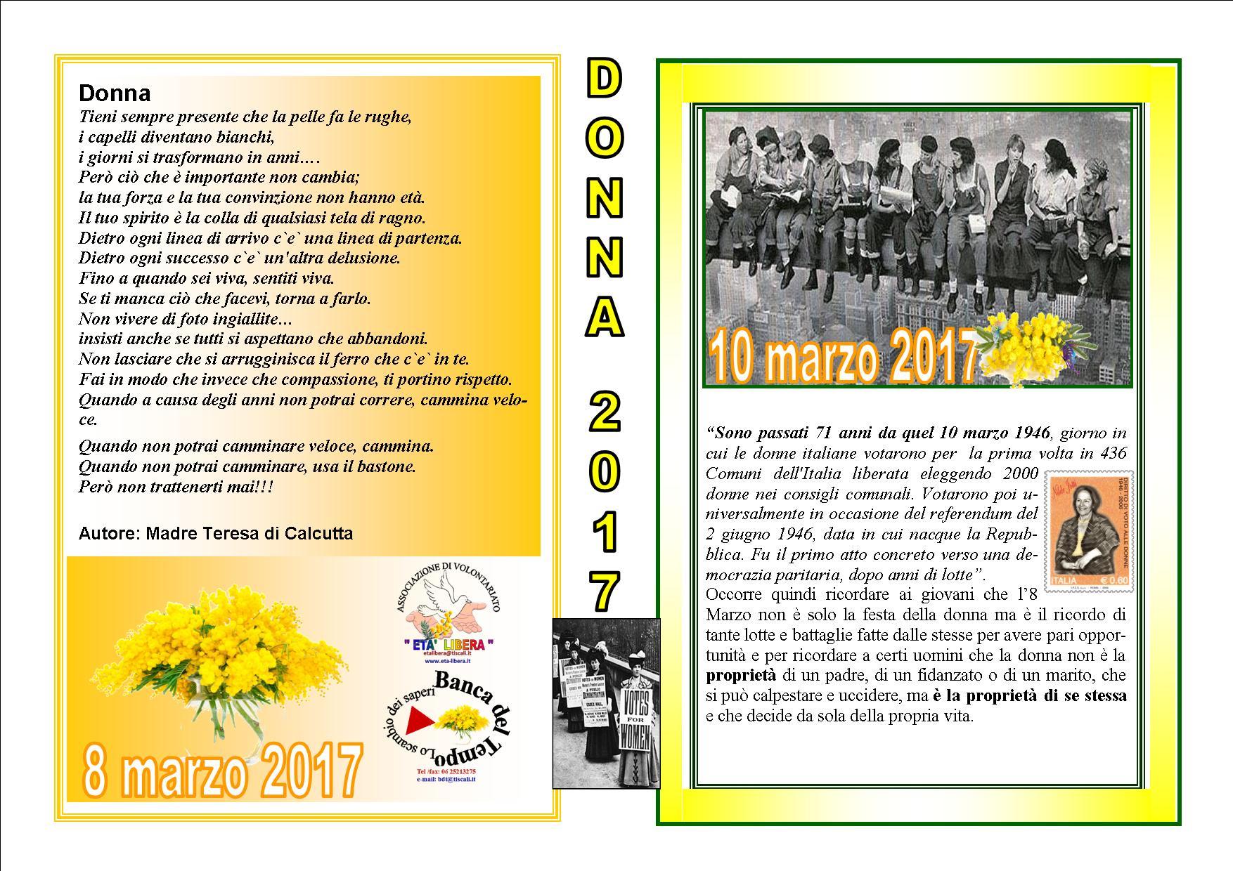 2017 marzo 8 et libera for Denuncia redditi 2017