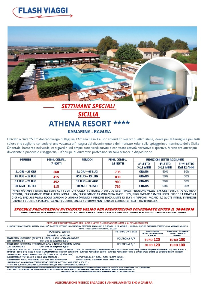 SIC-ATHENA RESORT sett spec
